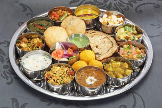 un plat de Thali